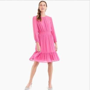 J. Crew Petite Cinched-waist Dress in Chiffon